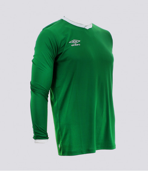 MAILLOT MANCHES LONGUES CUP VERT BLANC HOMME