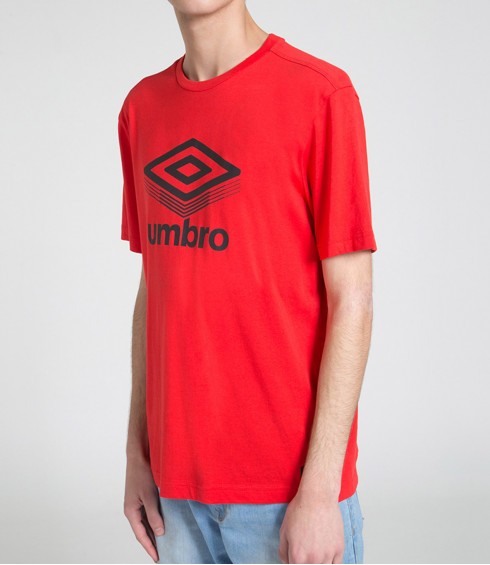 T-SHIRT COTON BIG LOGO ROUGE