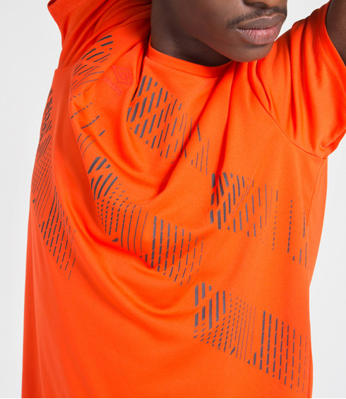 T-SHIRT POLYESTER TRAINING ORANGE HOMME