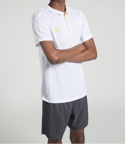 POLO TRAINING BLANC HOMME