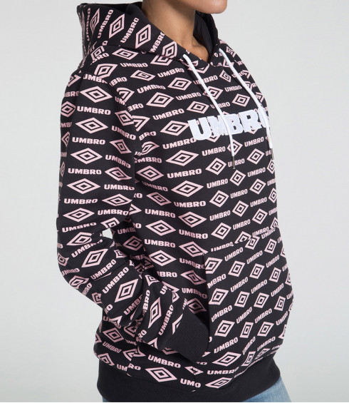 SWEAT A CAPUCHE HERITAGE NOIR MIXTE