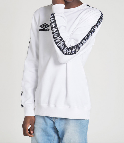 PULL A COL ROND STREET BLANC ET NOIR