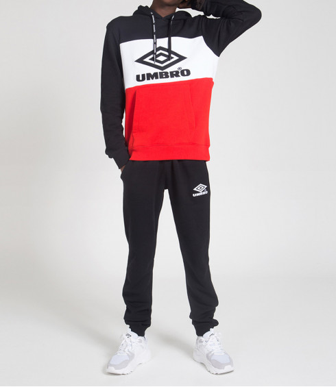 ENSEMBLE SWEAT ET PANTALON JOGGING NOIR ET ROUGE