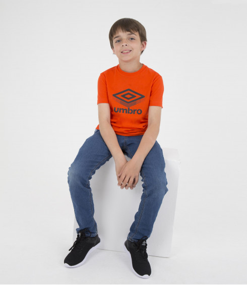 T-SHIRT COTON BIG LOGO ORANGE