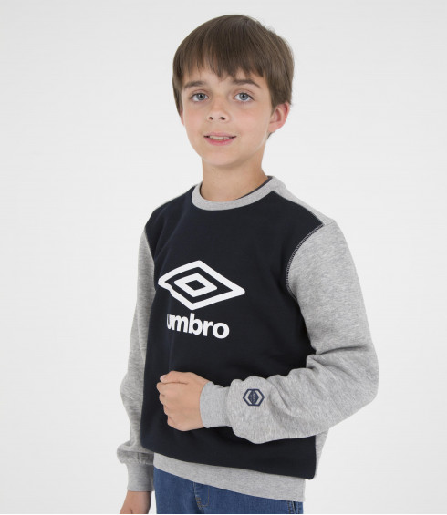 PULL COL ROND BIG LOGO NOIR - JUNIOR