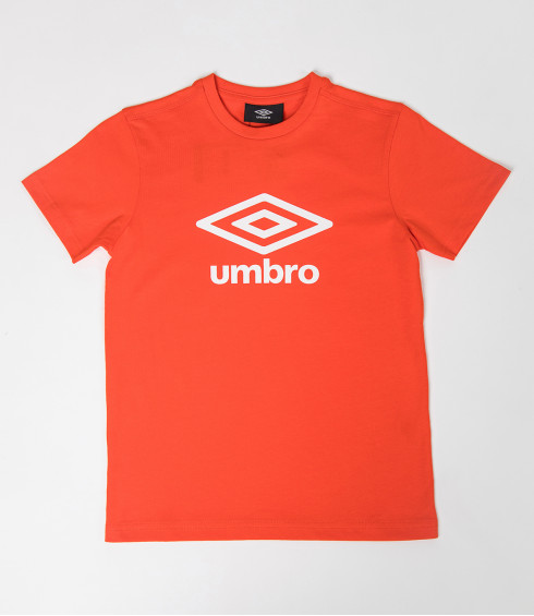T-SHIRT COTON BIG LOGO ORANGE - JUNIOR