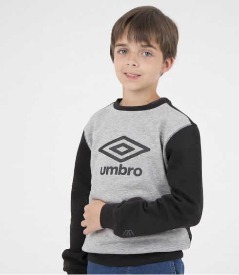 PULL COL ROND BIG LOGO JUNIOR GRIS