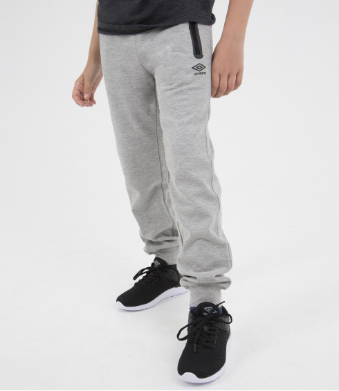 PANTALON DE JOGGING MOLLETON GRIS - JUNIOR