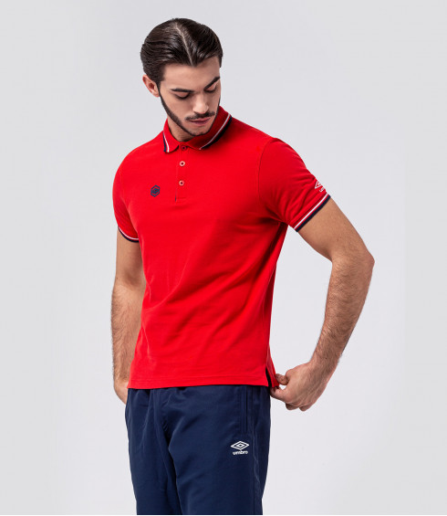 POLO ESSENTIAL ROUGE HOMME