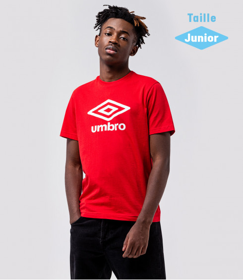 T-SHIRT SPORT BASIC ROUGE BLANC - JUNIOR